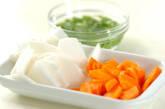 くずし豆腐のさっぱり汁の下準備1