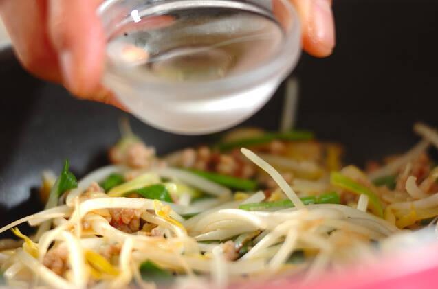 モヤシの肉みそ炒めの作り方の手順5