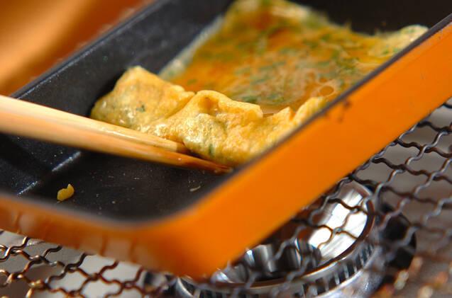 明太子と大葉の卵焼きの作り方の手順2