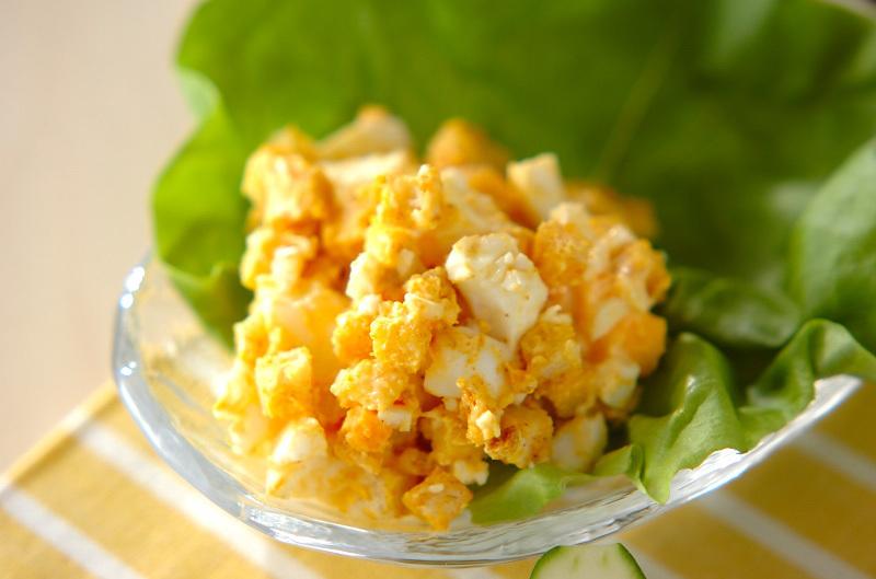 7.カレー風味のクルトンサラダ