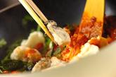 カキと菊菜のアラビアータの作り方4