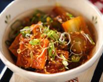 ピリ辛豆腐煮