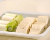 ピリ辛豆腐煮の下準備1