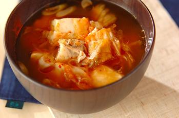 タラのキムチスープ