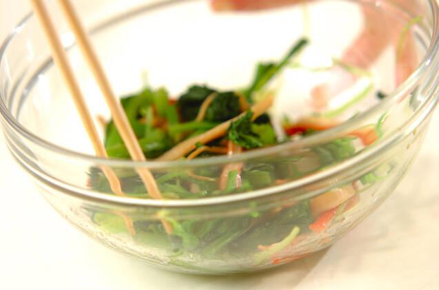 青菜のクルミみそダレの作り方の手順2