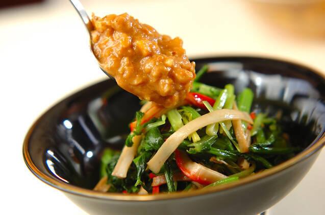青菜のクルミみそダレの作り方の手順3