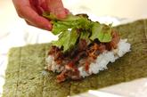 梅ご飯でサッパリ!焼肉のおにぎらずの作り方3