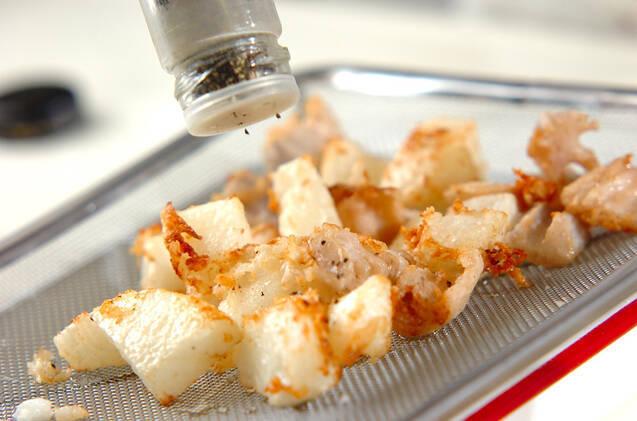 たたきレンコンと長芋の素揚げの作り方の手順3