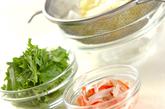 白菜の粒マスタード和えの下準備1