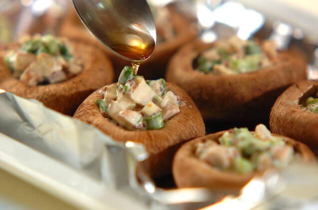 シイタケのマヨ焼きの作り方の手順3