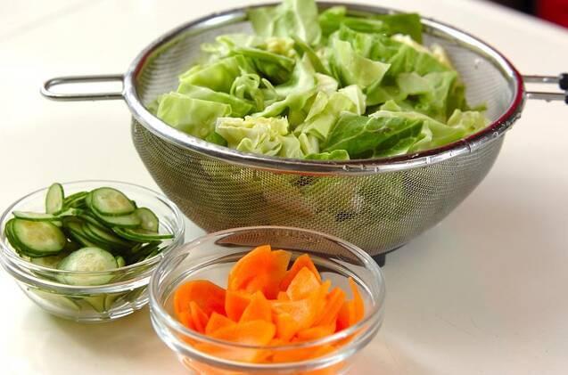 春キャベツのサラダの作り方の手順1