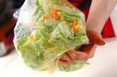春キャベツのサラダの作り方1