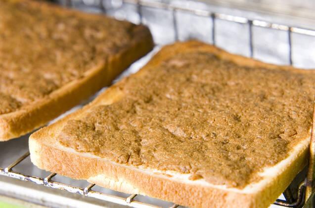 きな粉トーストの作り方の手順2
