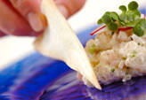 鯛とホタテ貝のタルタルパイ添えの作り方7