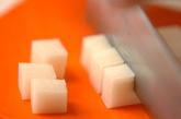 明太子チーズのお好み焼きの下準備3