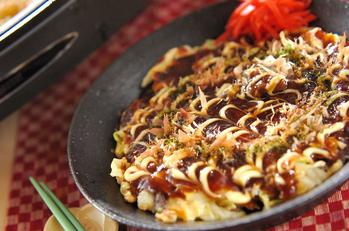 明太子チーズのお好み焼き