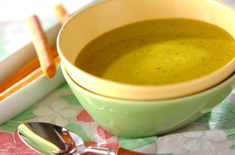 野菜は皮ごと♩かぼちゃとニンジンの豆乳スープ