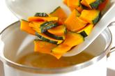 カボチャとニンジンの豆乳スープの作り方1