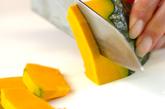 豆腐とカボチャの濃厚ポタージュの下準備2