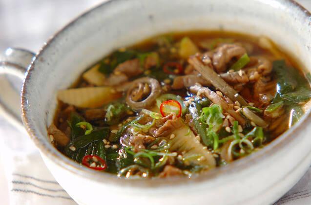 牛肉のピリ辛スープ