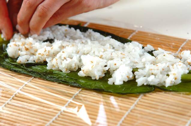 細巻き寿司の作り方の手順5