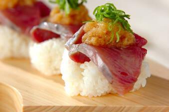 カツオのにぎり寿司