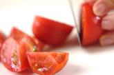 トマトとらっきょうの前菜の下準備1