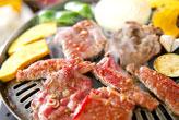 カルビとタンの焼き肉