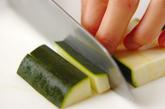 シシカバブと焼き野菜の菜包みの下準備1