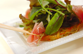 カリカリポテトの野菜ピザの作り方2