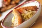 白菜とゴボ天のサッと煮