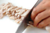 豚シャブ納豆冷やしそばの作り方1