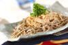 豚シャブ納豆冷やしそばの作り方の手順