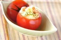 エビのトマトカップサラダ