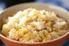もちもちフキご飯の作り方の手順