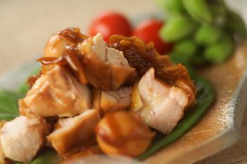鶏もも肉ショウガじょうゆ煮