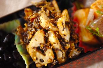 レンコンと高菜の炒め物