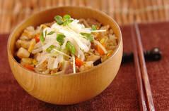 豆モヤシの炊き込みご飯