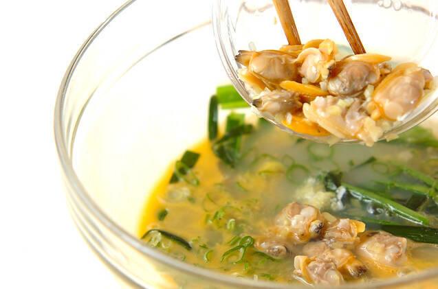 アサリとニラの卵焼きの作り方の手順3