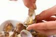 絶品ダシのアサリの炊き込みご飯の下準備2