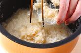 ホタテの炊き込みご飯の作り方1