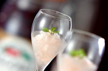 シャンパンのグラニテ