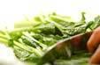 青菜の中華和えの下準備1