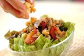 海藻とサニーレタスのサラダの作り方1