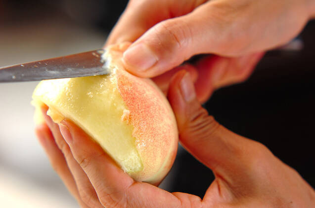 桃ヨーグルトの作り方の手順1