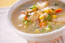 タラ・みそ味のスープの作り方の手順5