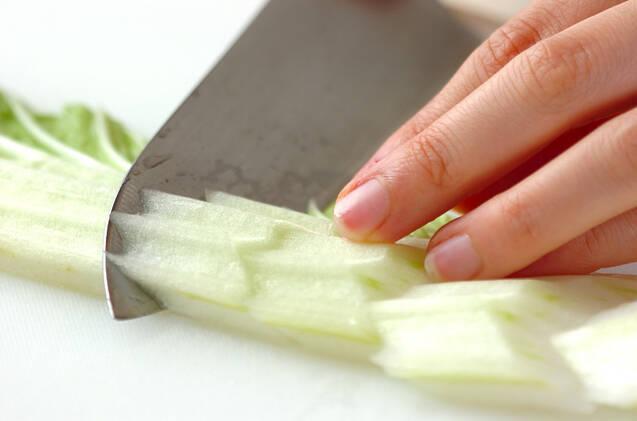 白菜とアサリのサッと煮の作り方の手順1