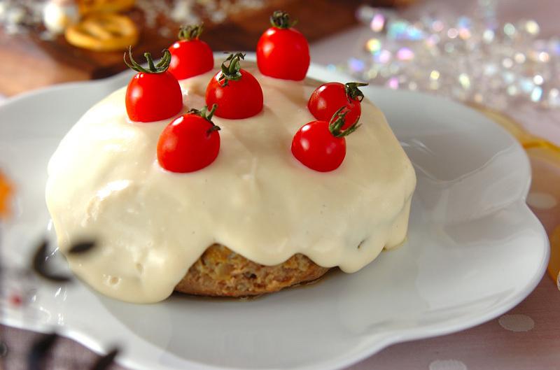 5.ジャンボホワイトハンバーグ