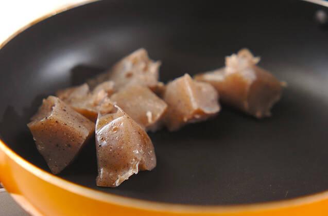 コンニャクの梅炒めの作り方の手順4