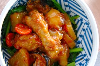 鶏手羽元の中華煮